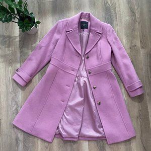 Talbots Pink Wool Peacoat with Waist Band Detail